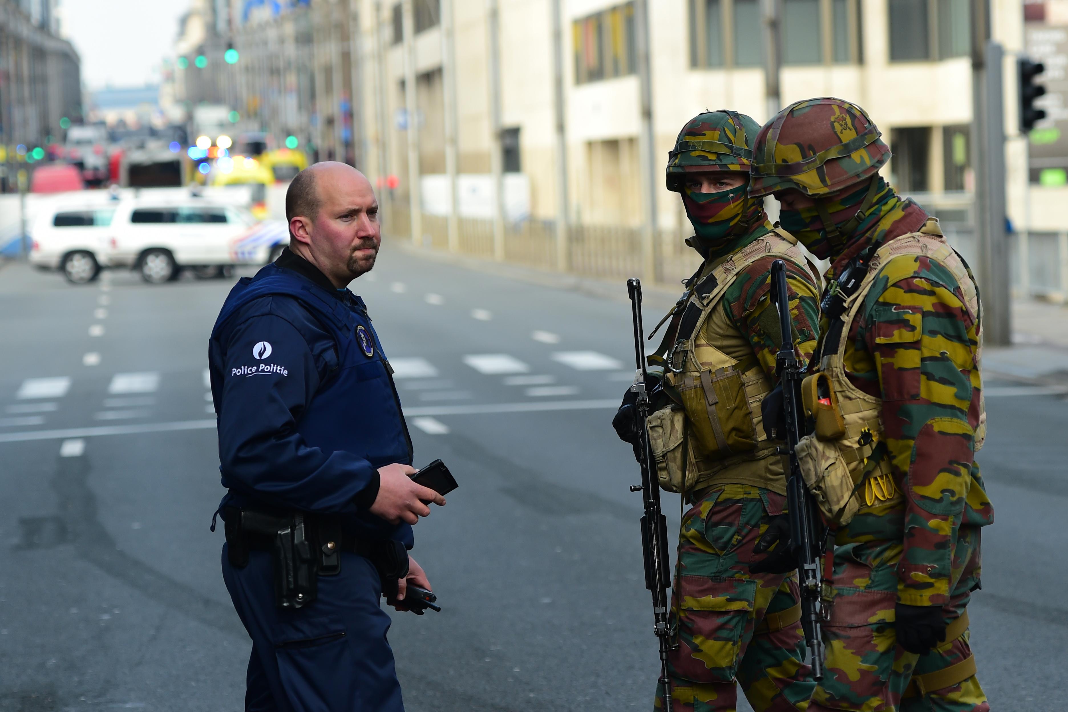 استنفار أمني في شوارع بروكسل