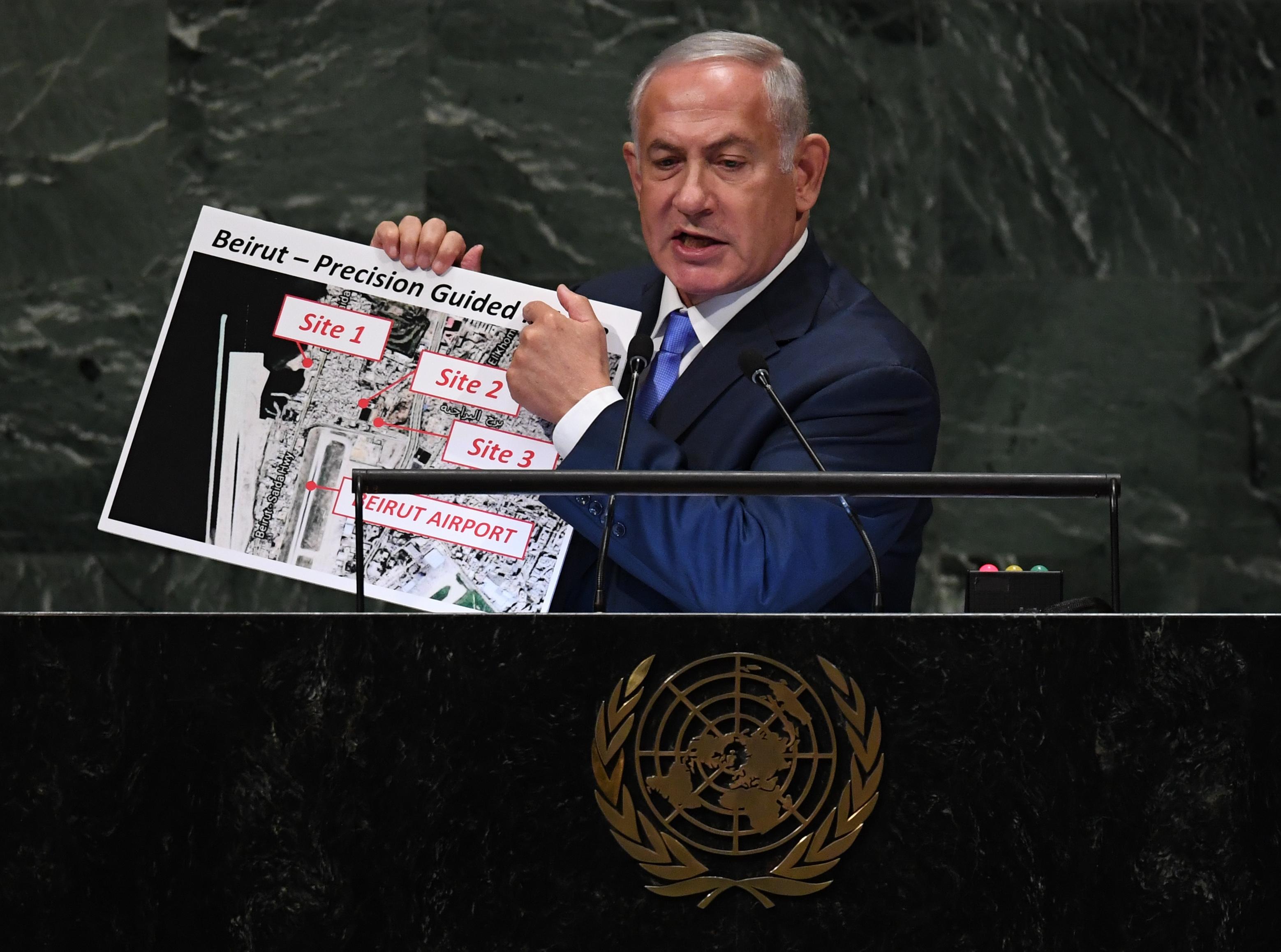 نتنياهو في الأمم المتحدة