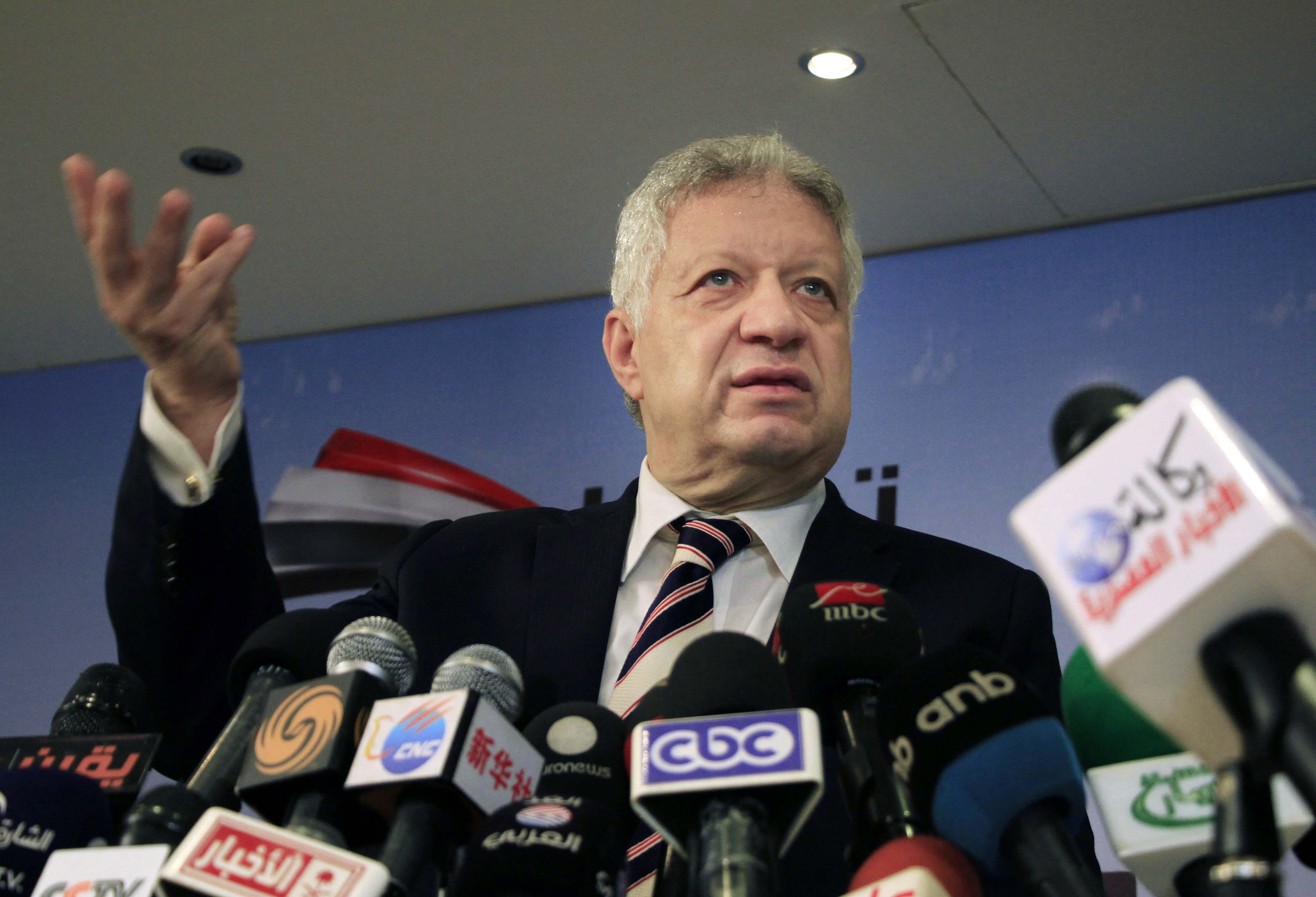 عضو البرلمان المصري ورئيس نادي الزمالك مرتضى منصور