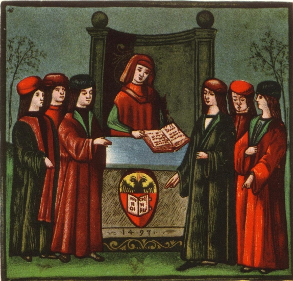 مدخل طلبة قسم اللغة الألمانية في الجامعة سنة 1497