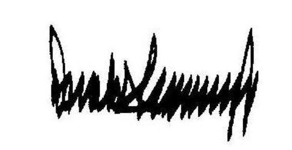 توقيع الرئيس دونالد ترامب