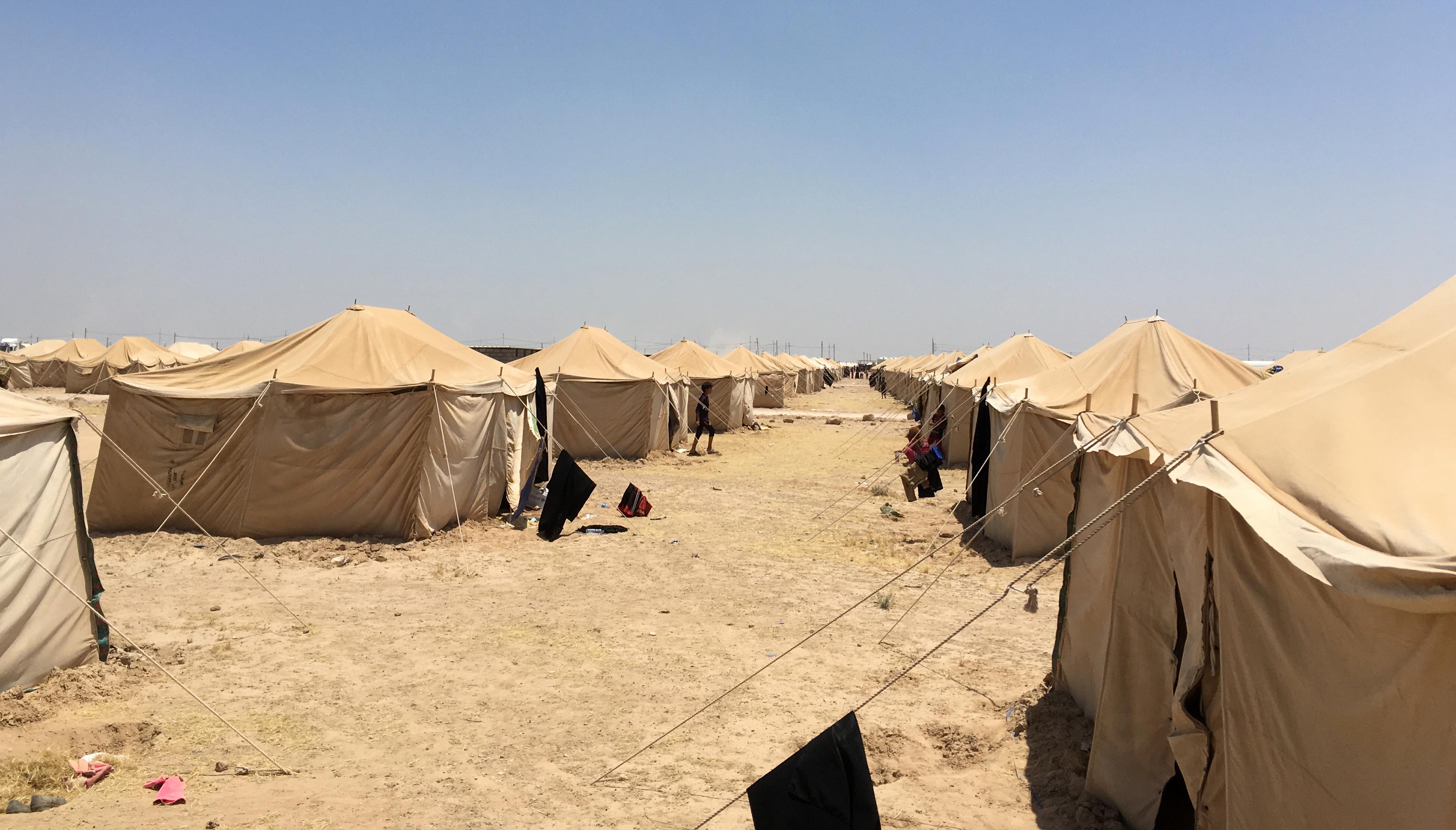 جانب من مخيم في عامرية الفلوجة مخصص للنازحين من الفلوجة