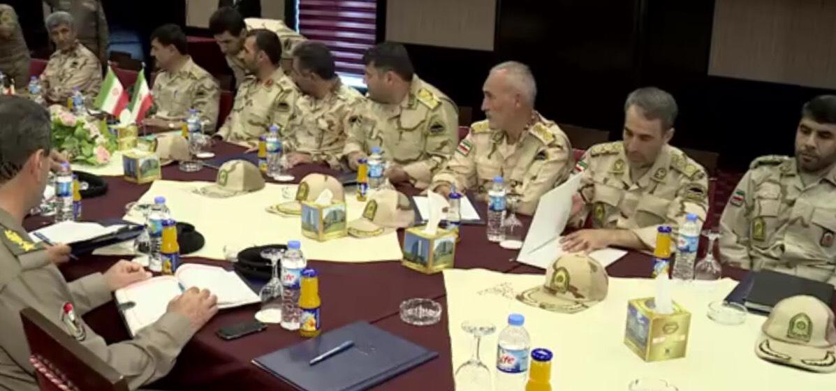 الاجتماع الدوري لقادة قوات الحرس الحدود العراقي والإيراني في أربيل