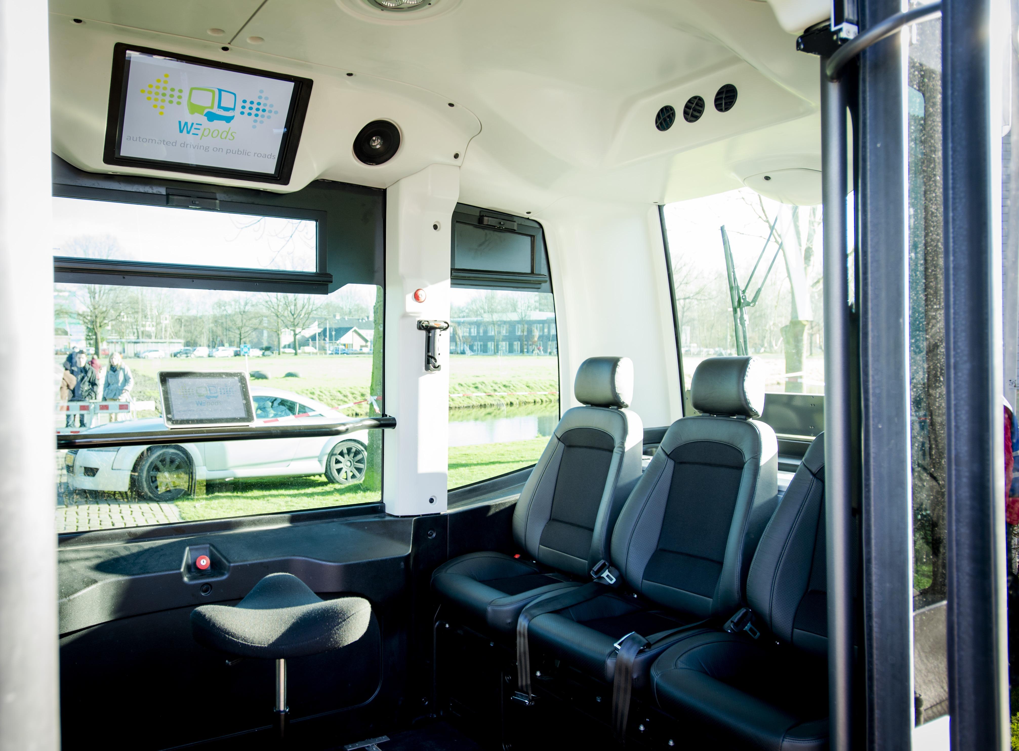 نظرة على الحافلة من الداخل