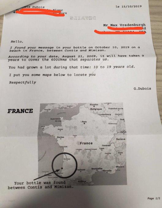 الرد على ماكس جاء من فرنسا حيث يفصل بينه وبين المرسل أكثر من ستة آلاف كيلو متر