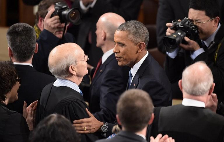 الرئيس أوباما يصل إلى مبنى الكونغرس لإلقاء خطاب حالة الاتحاد مساء الثلاثاء