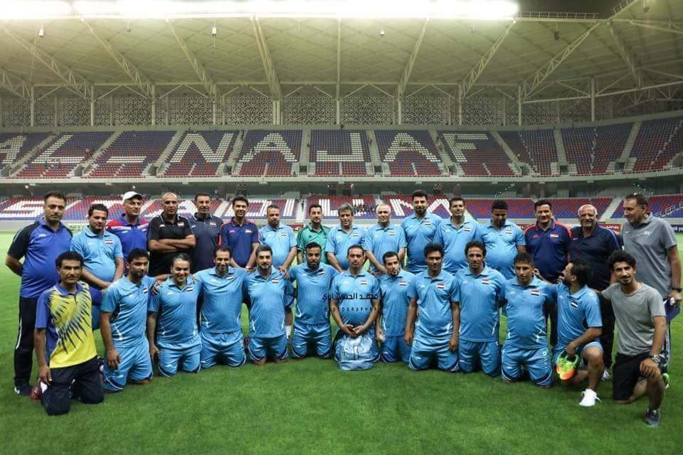 صورة للاعبين- الصورة من صفحة وزارة الشباب والرياضة على فيسبوك