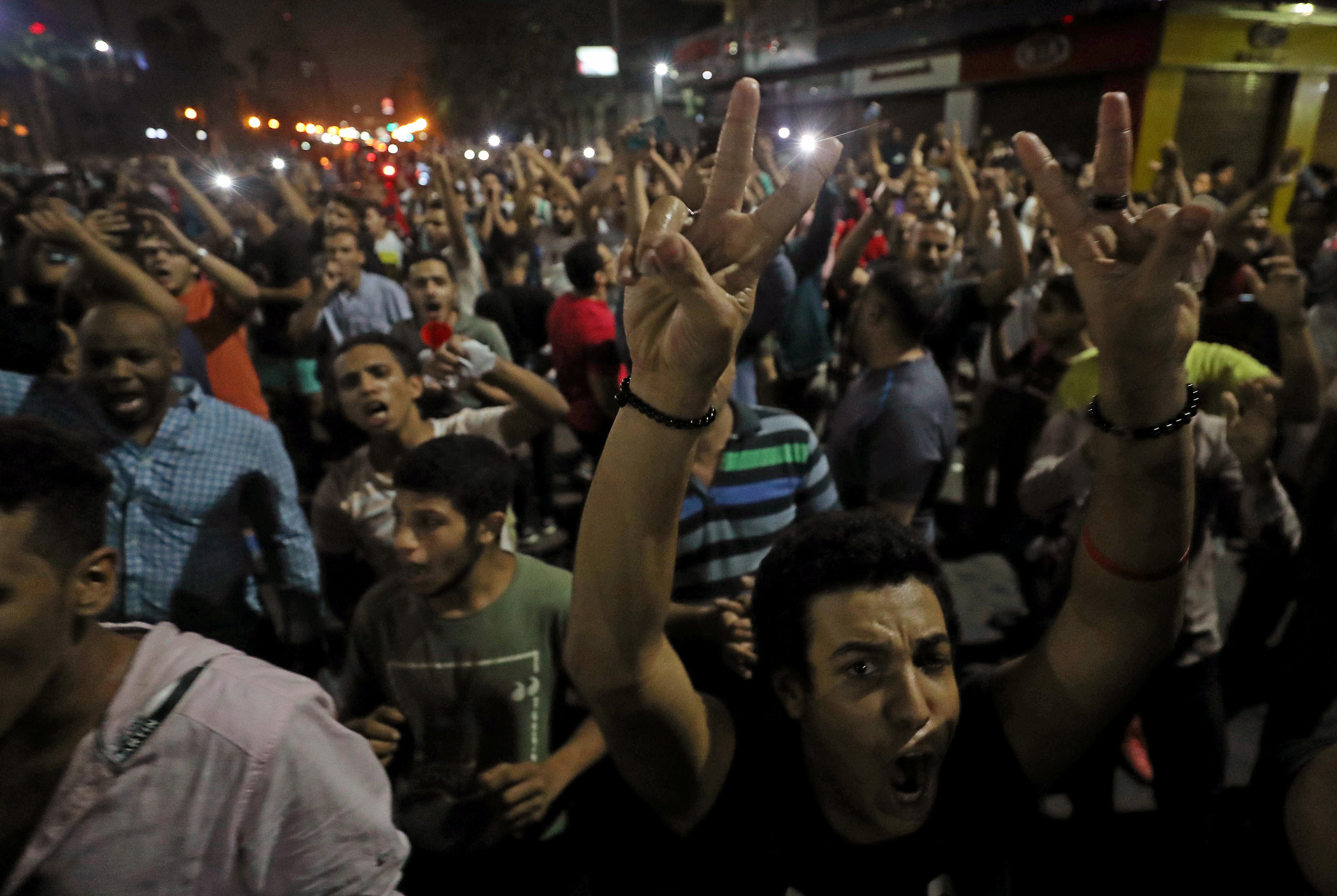 تظاهرات محدودة في القاهرة ضد الرئيس عبد الفتاح السيسي