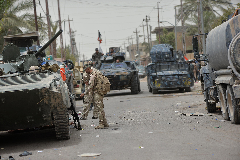 قوات عراقية في مدينة الفلوجة