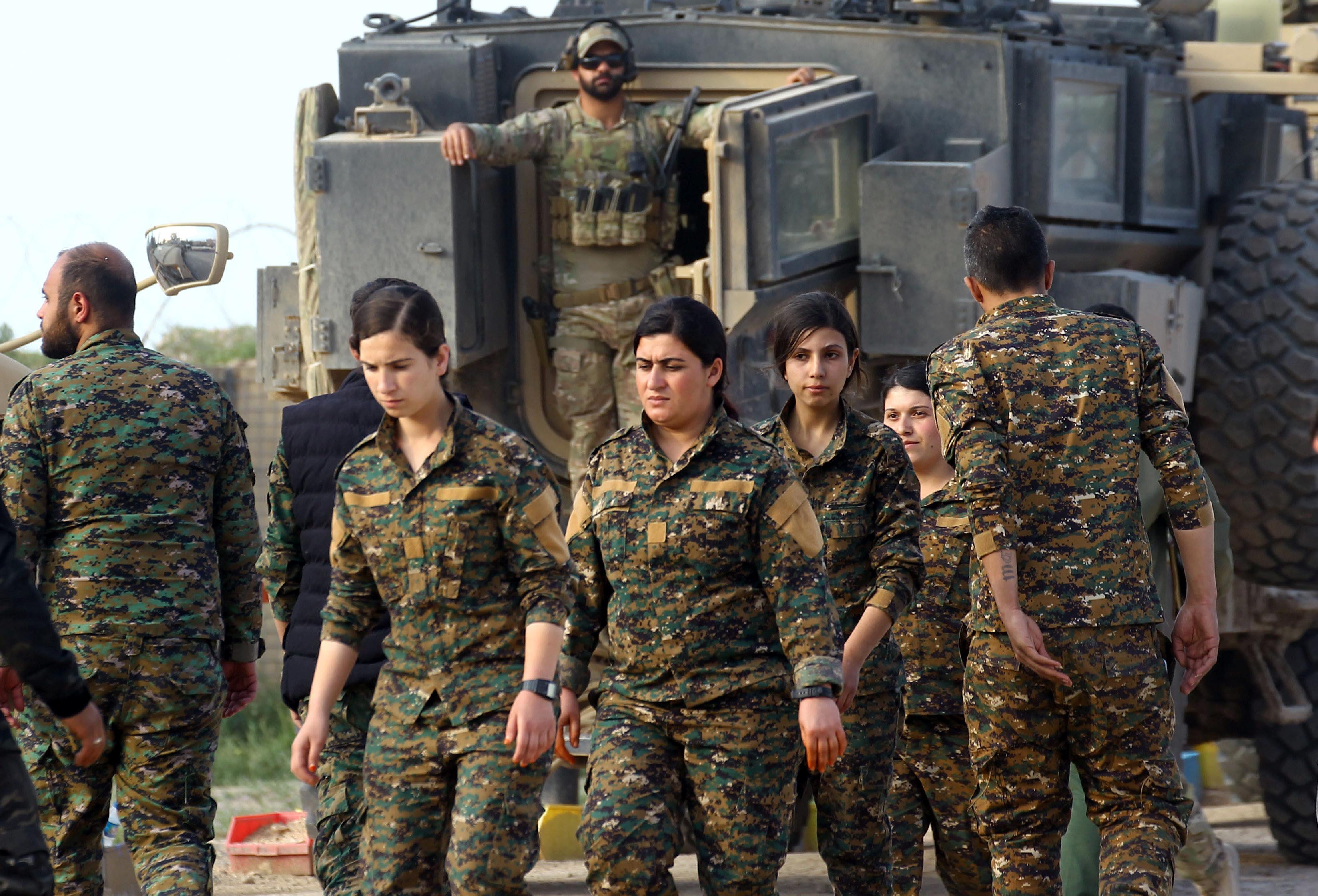 مجندون تابعون لقوات سوريا الديمقراطية - 23 مارس 2019