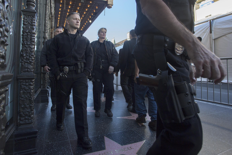 عناصر من الشرطة في لوس أنجليس