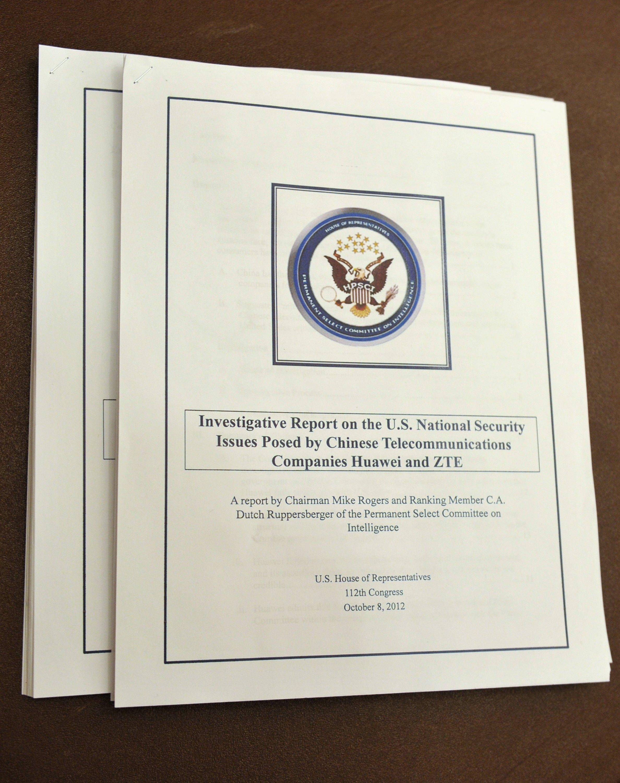 تقرير لجنة الاستخبارات في مجلس النواب الأميركي في 2012