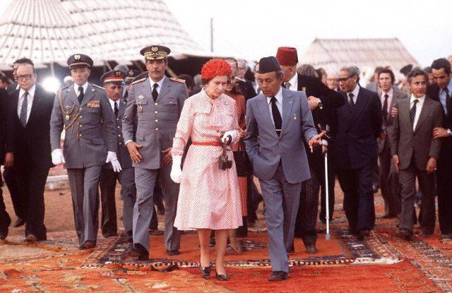 من زيارة الملكة إليزابيث الثانية إلى المغرب عام 1980