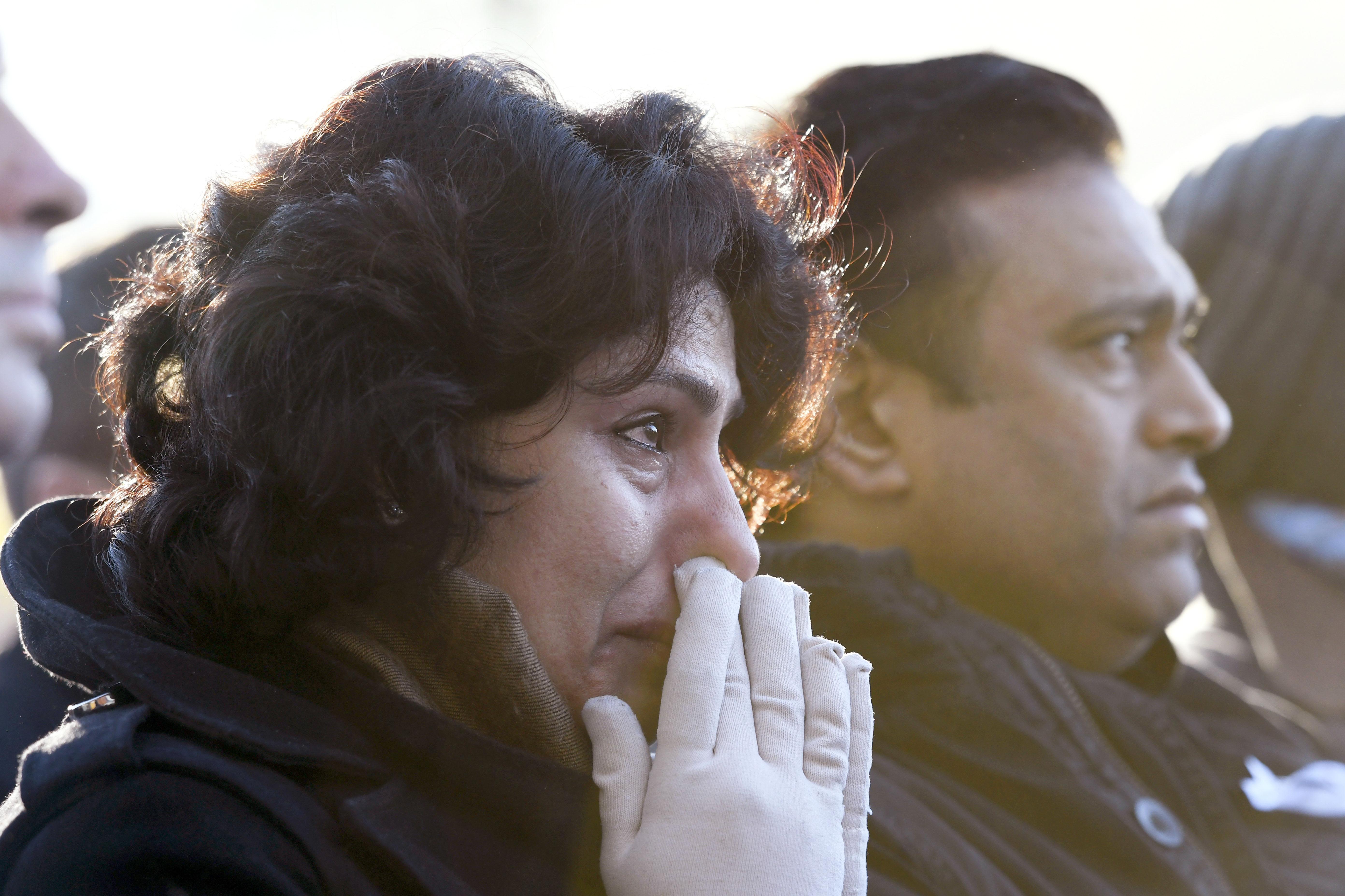 المضيفة الهندية خلال مشاركتها في إحياء ذكرى ضحايا الهجوم