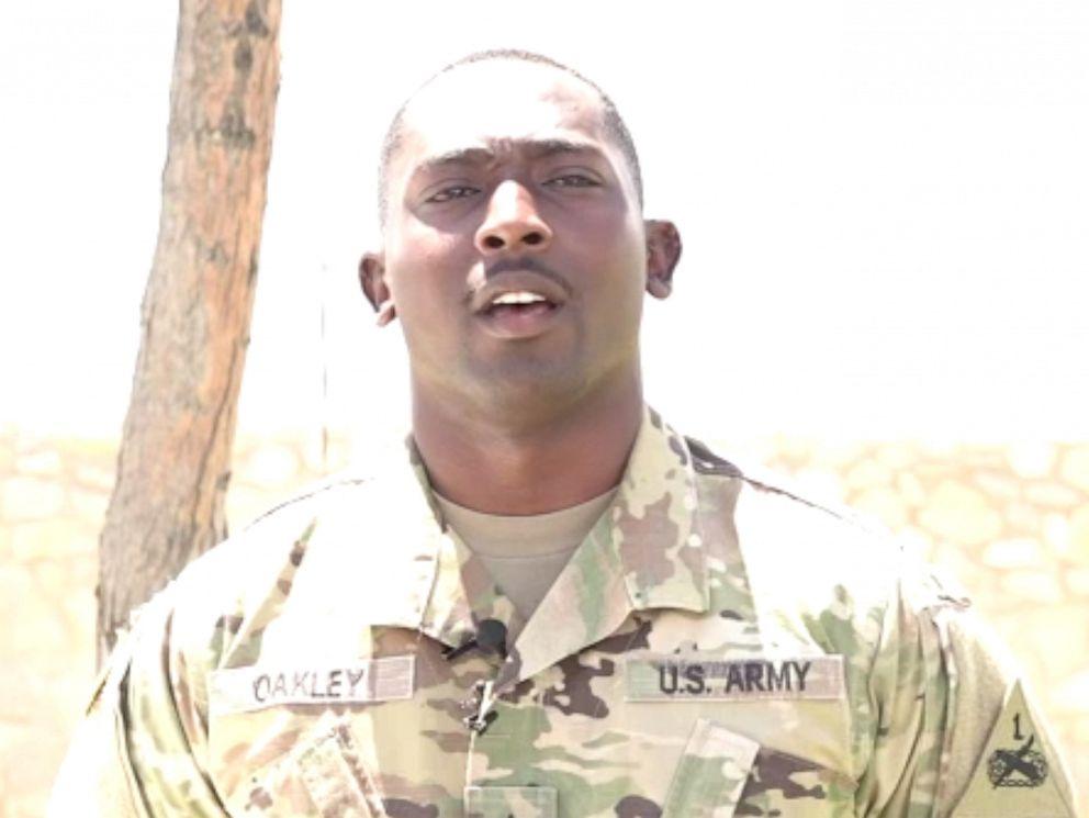 الجندي الأميركي غليندون أوكلي (22 عاما) والذيس تحول إلى بطل بعد إنقاذه أطفالا أثناء حادث إل باسو