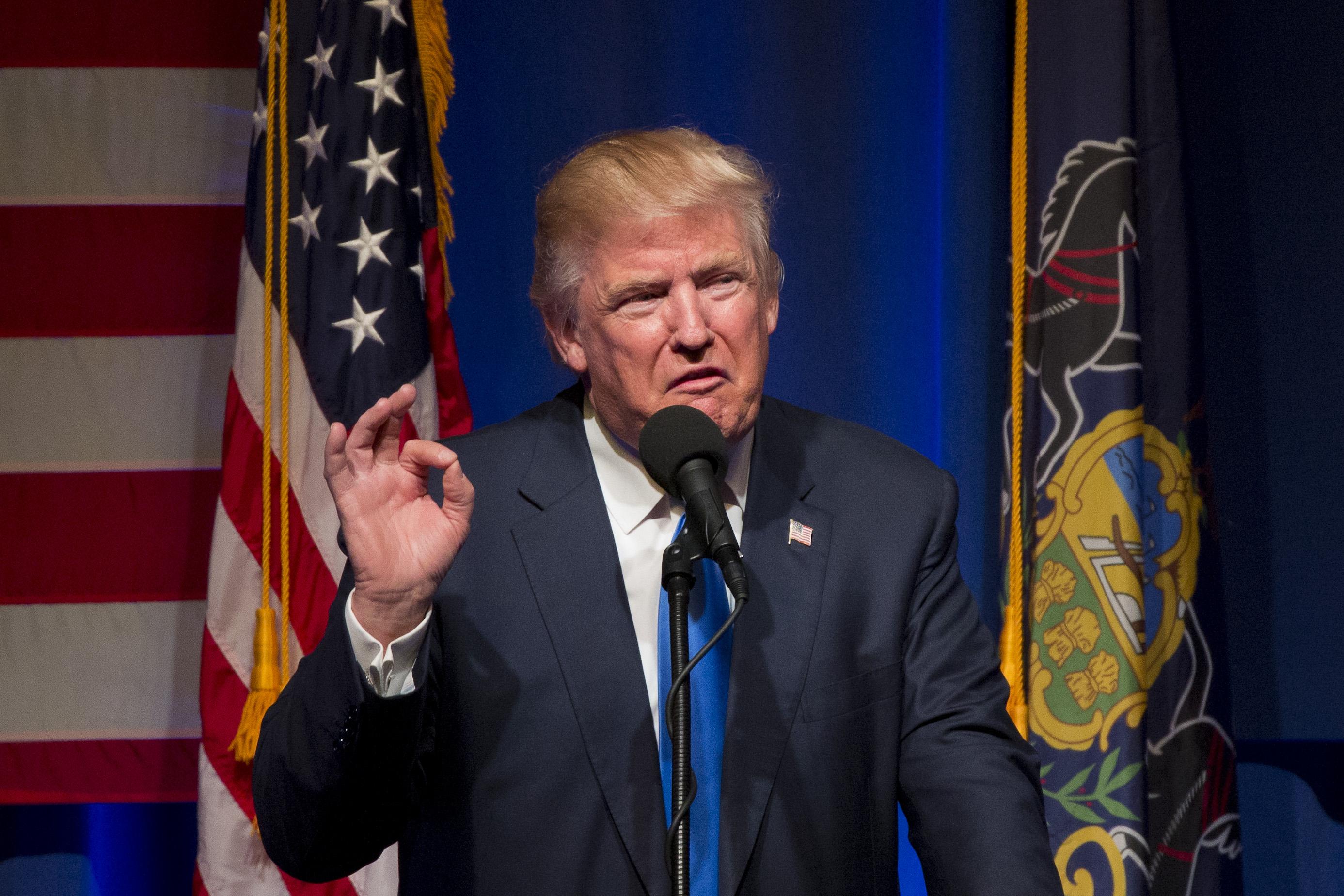 دونالد ترامب في تجمع بنسيلفانيا