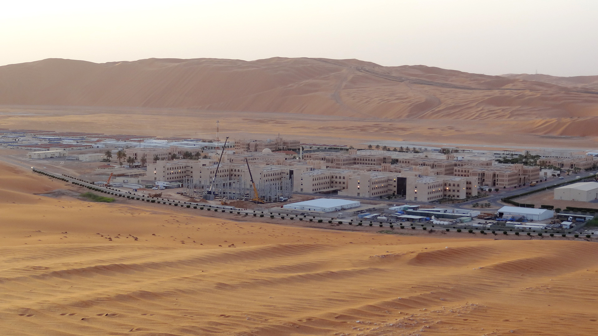 مقر شركة أرامكو السعودية في شيبا في صحراء الربع الخالي