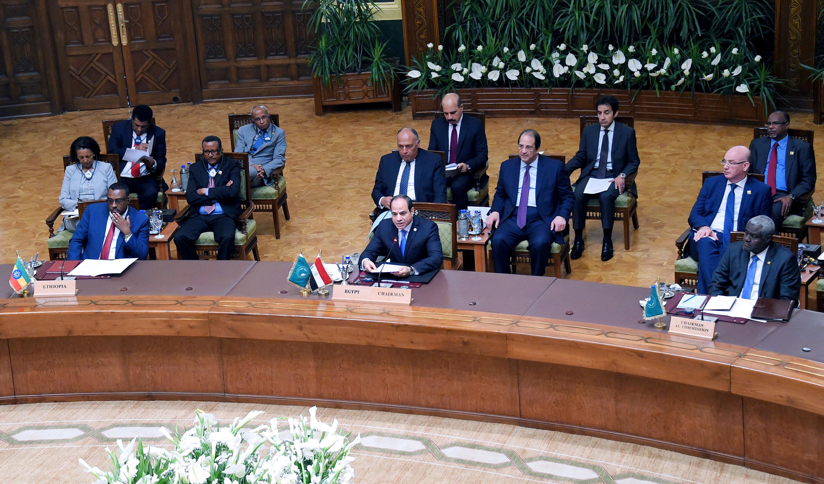 جانب من القمة التي استضافتها القاهرة لبحث الأوضاع في السودان