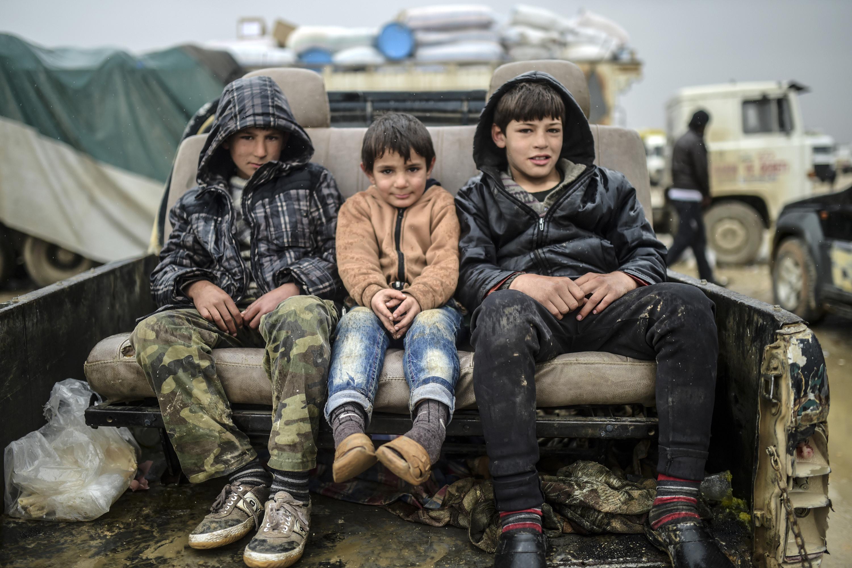 أطفال ضحايا الحرب في سورية -أرشيف