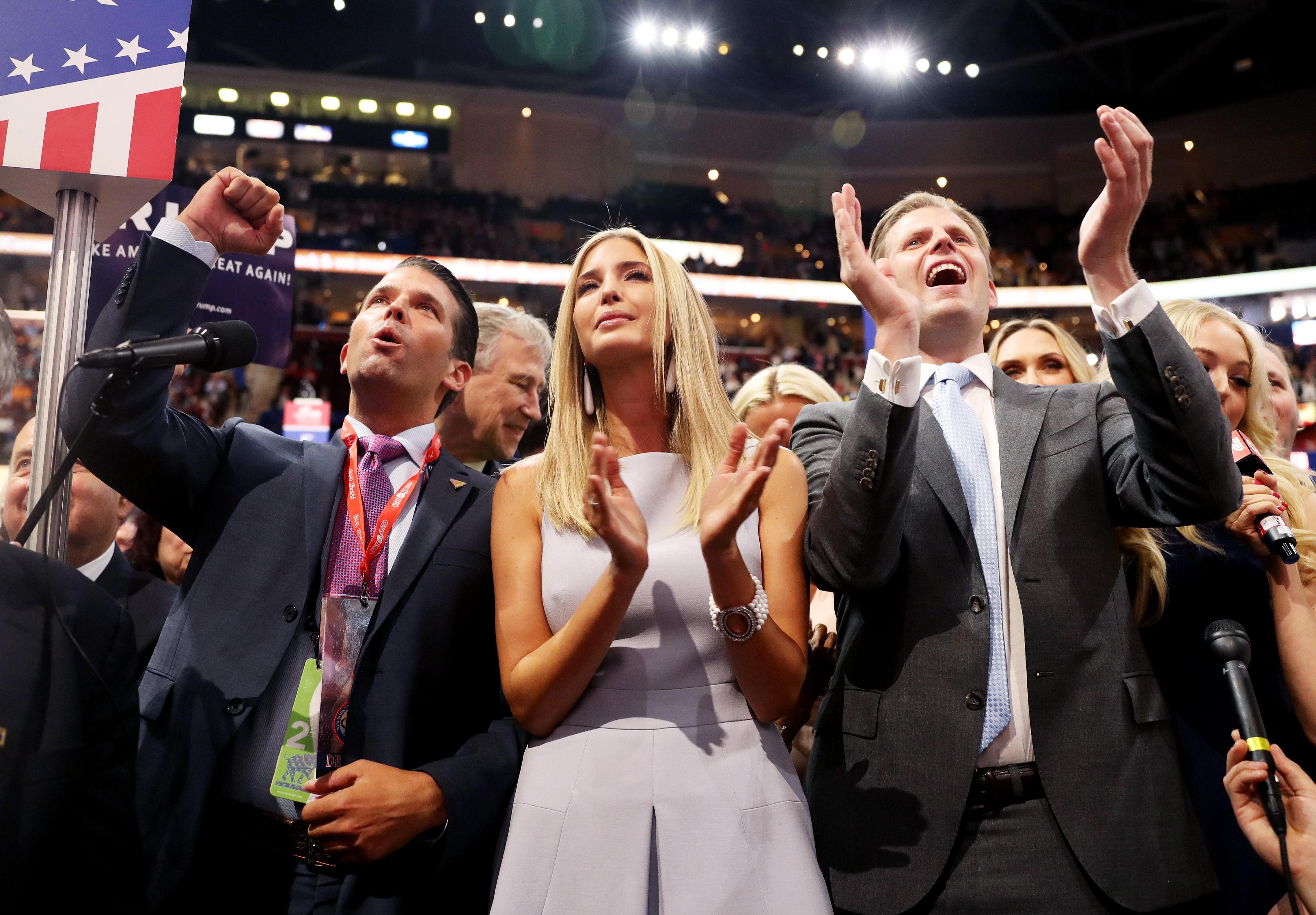 عائلة دونالد ترامب بعد الفوز بالترشيح