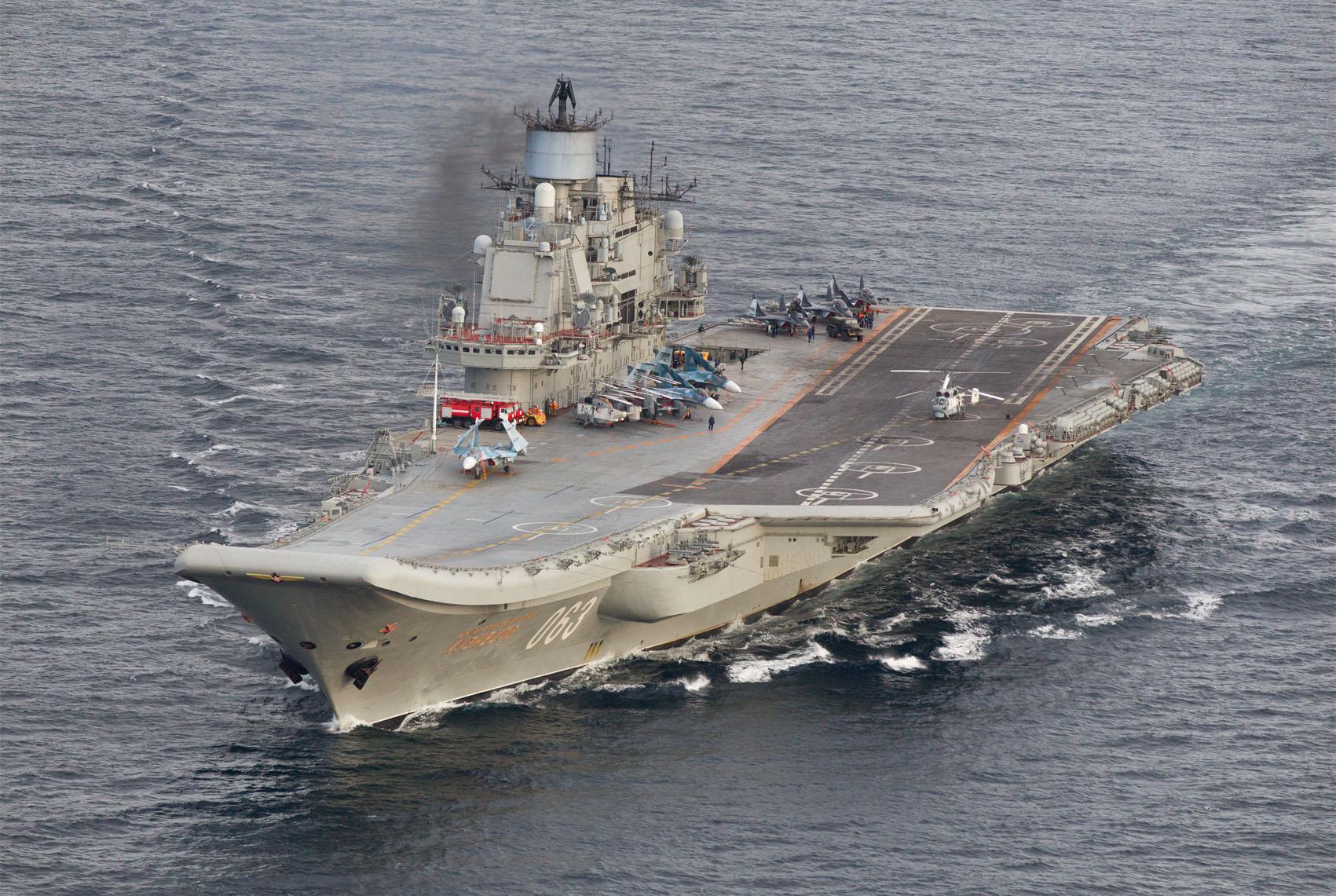 """حاملة الطائرات الروسية """"أدميرال كوزنيتزوف"""""""