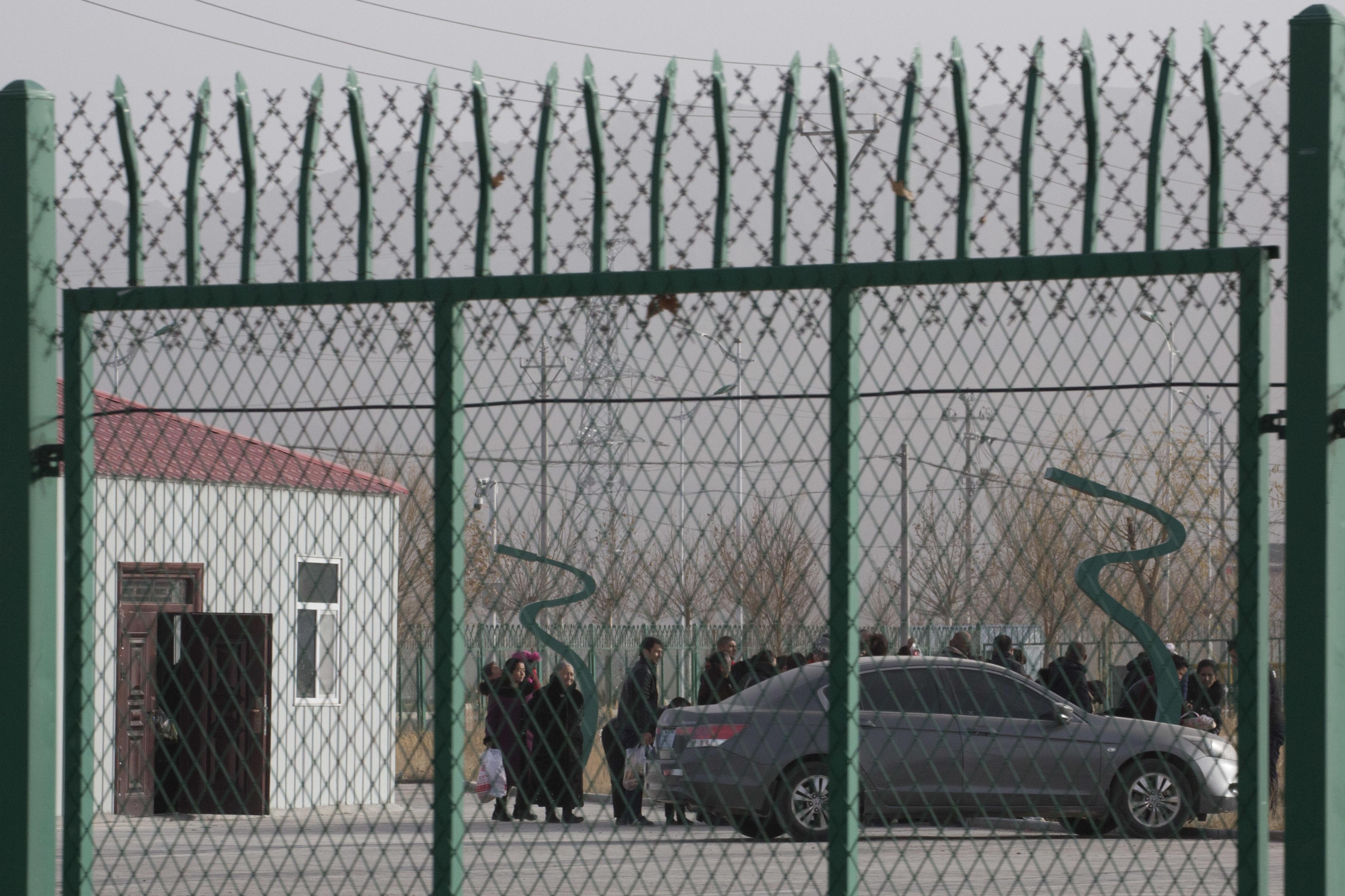 أحد مراكز الاعتقال المشتبه فيها بشينجيانغ
