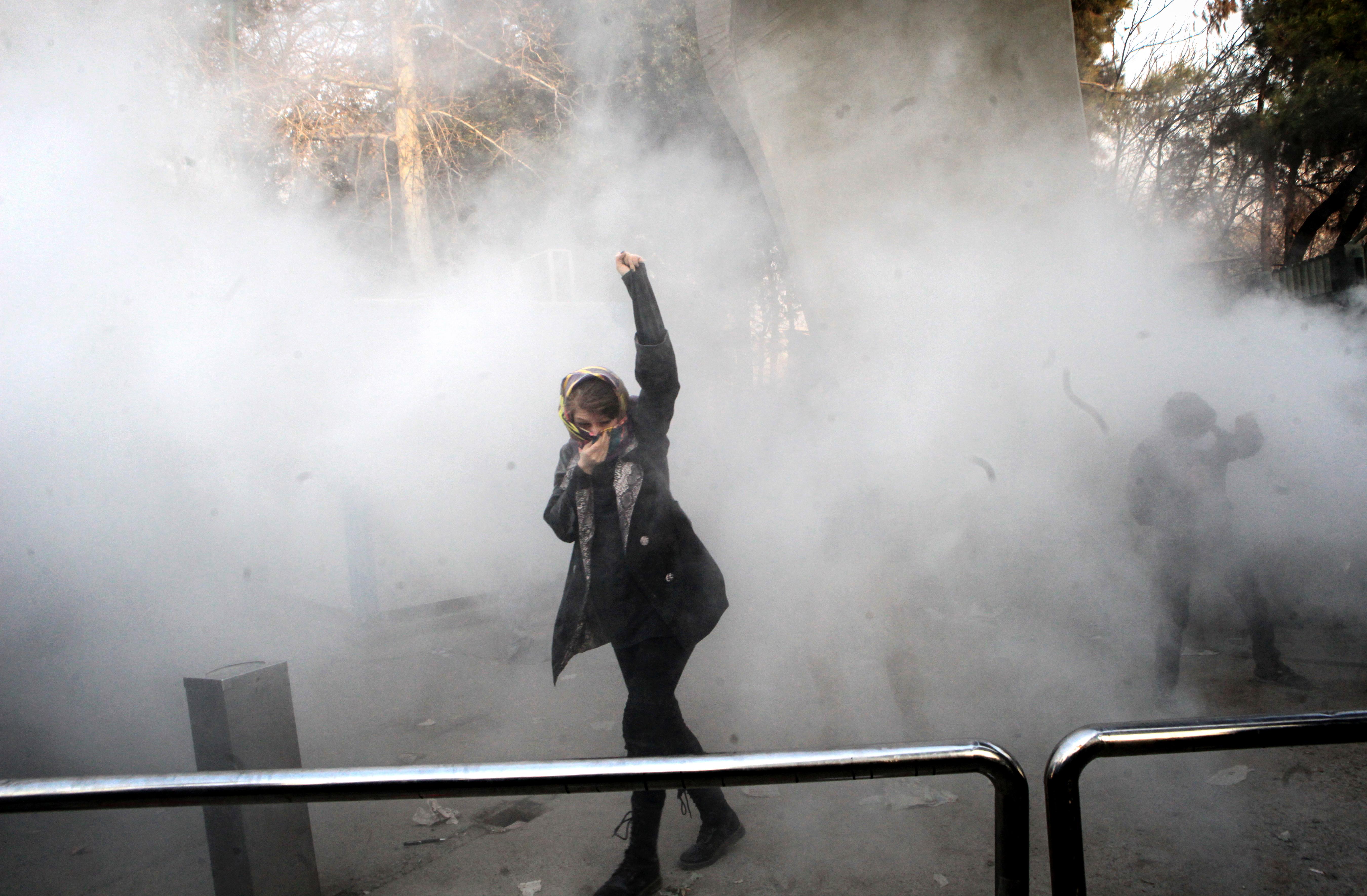 جانب من مظاهرةفي جامعة إيران- أرشيف
