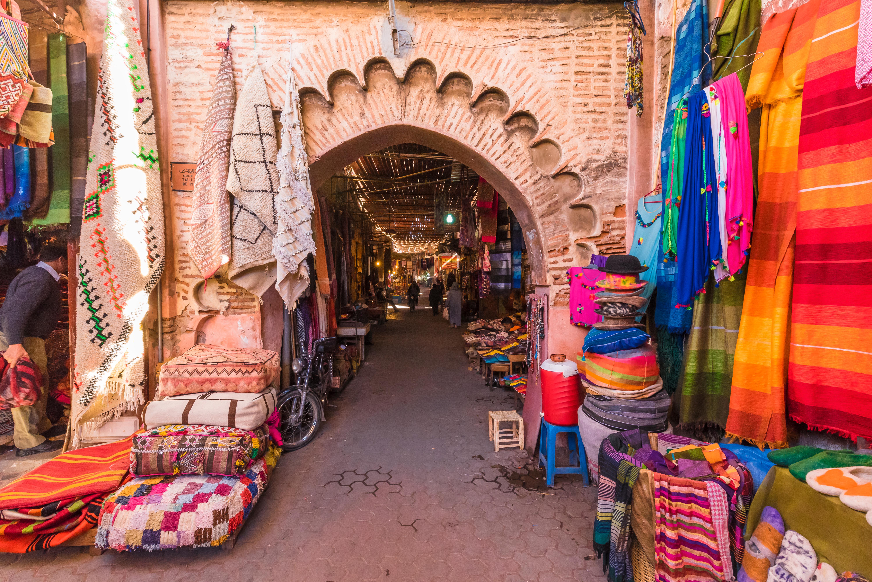 من أحد الأسواق القديمة في المغرب