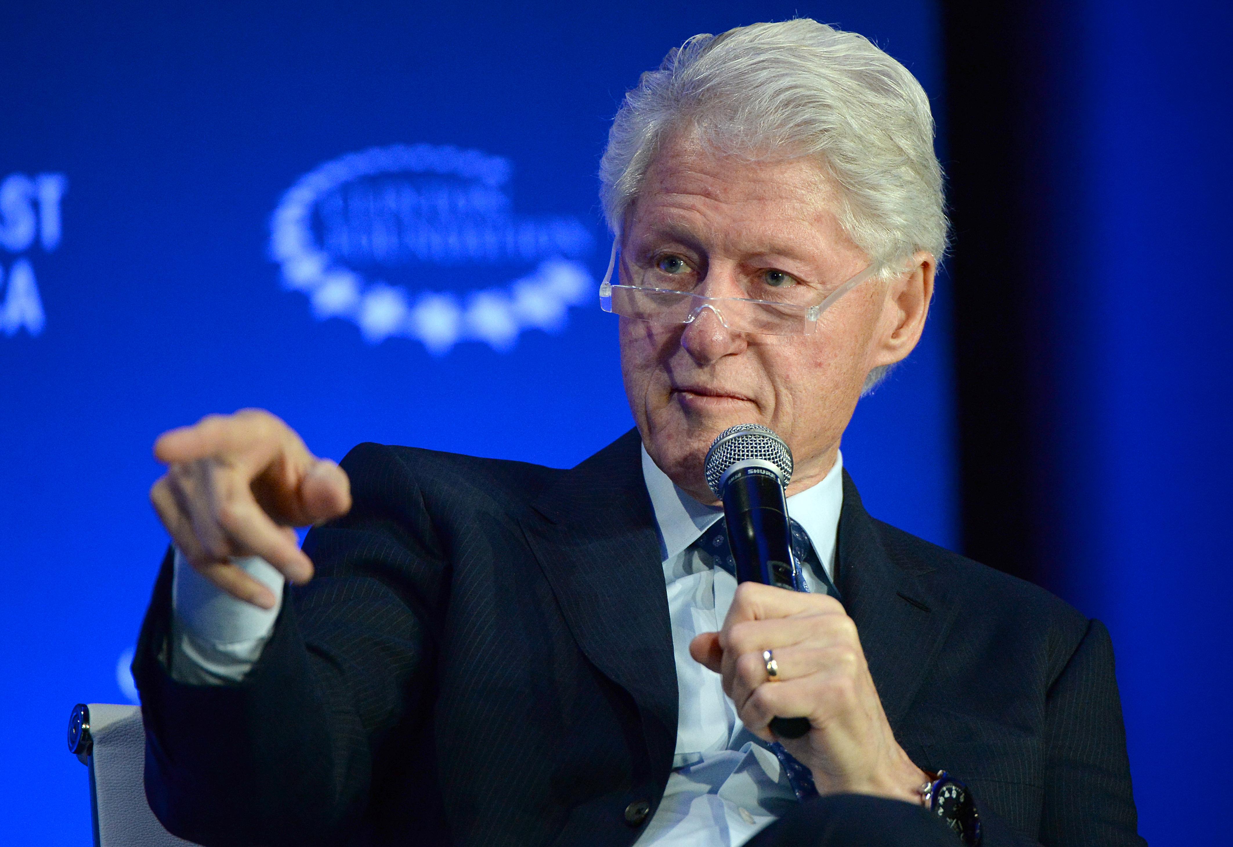 الرئيس الأسبق بيل كلينتون في مداخلة له في مؤتمر مراكش