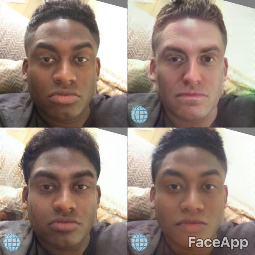مستخد لـ Faceapp يدعى سام سليسا اتهم التطبيق بالعنصرية إثر تغيير لون بشرته