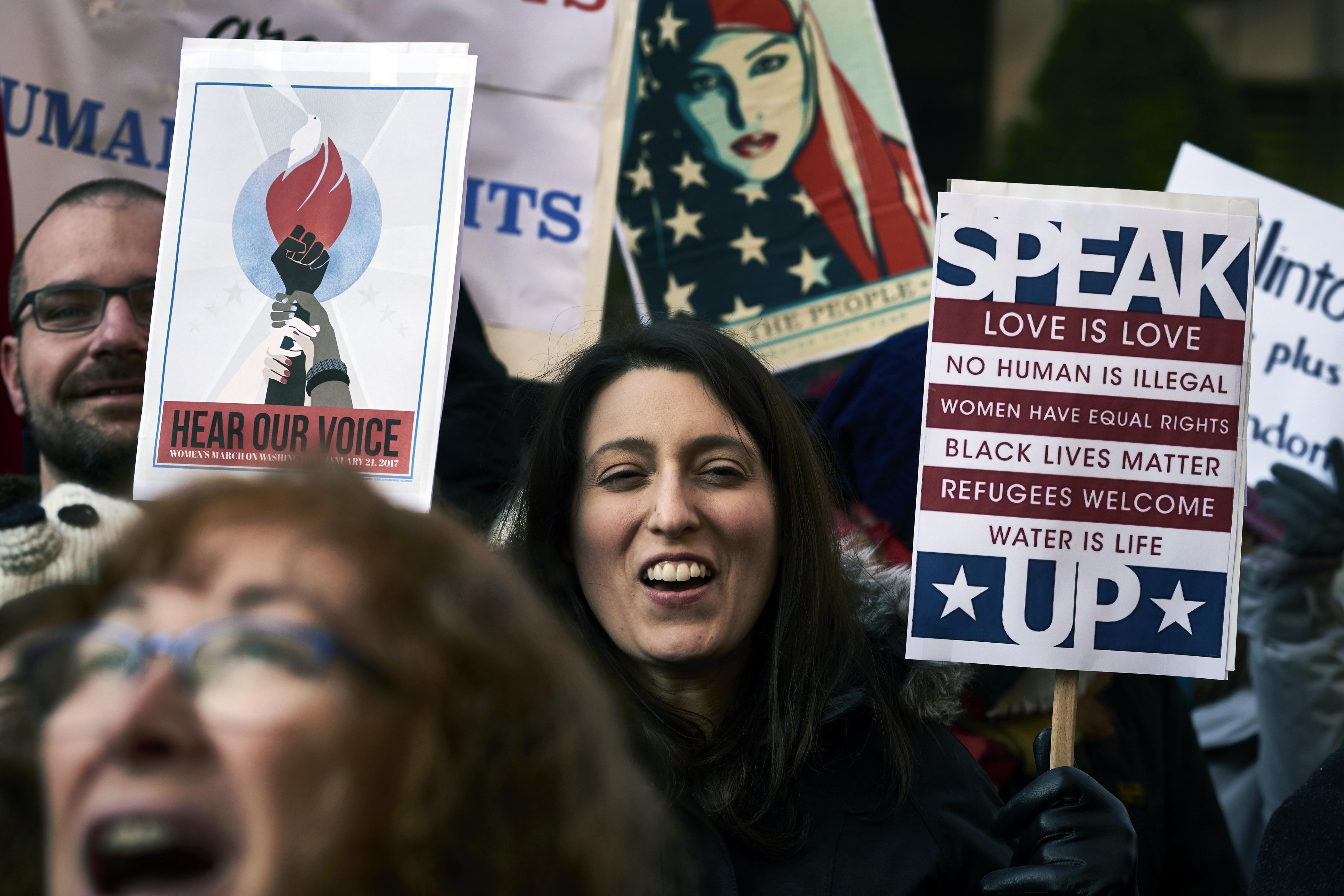 جانب من المظاهرة في واشنطن