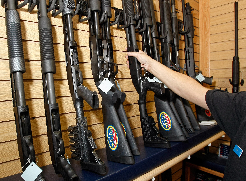 جانب من محل لبيع الأسلحة في مدينة لاس فيغاس بولاية نيفادا