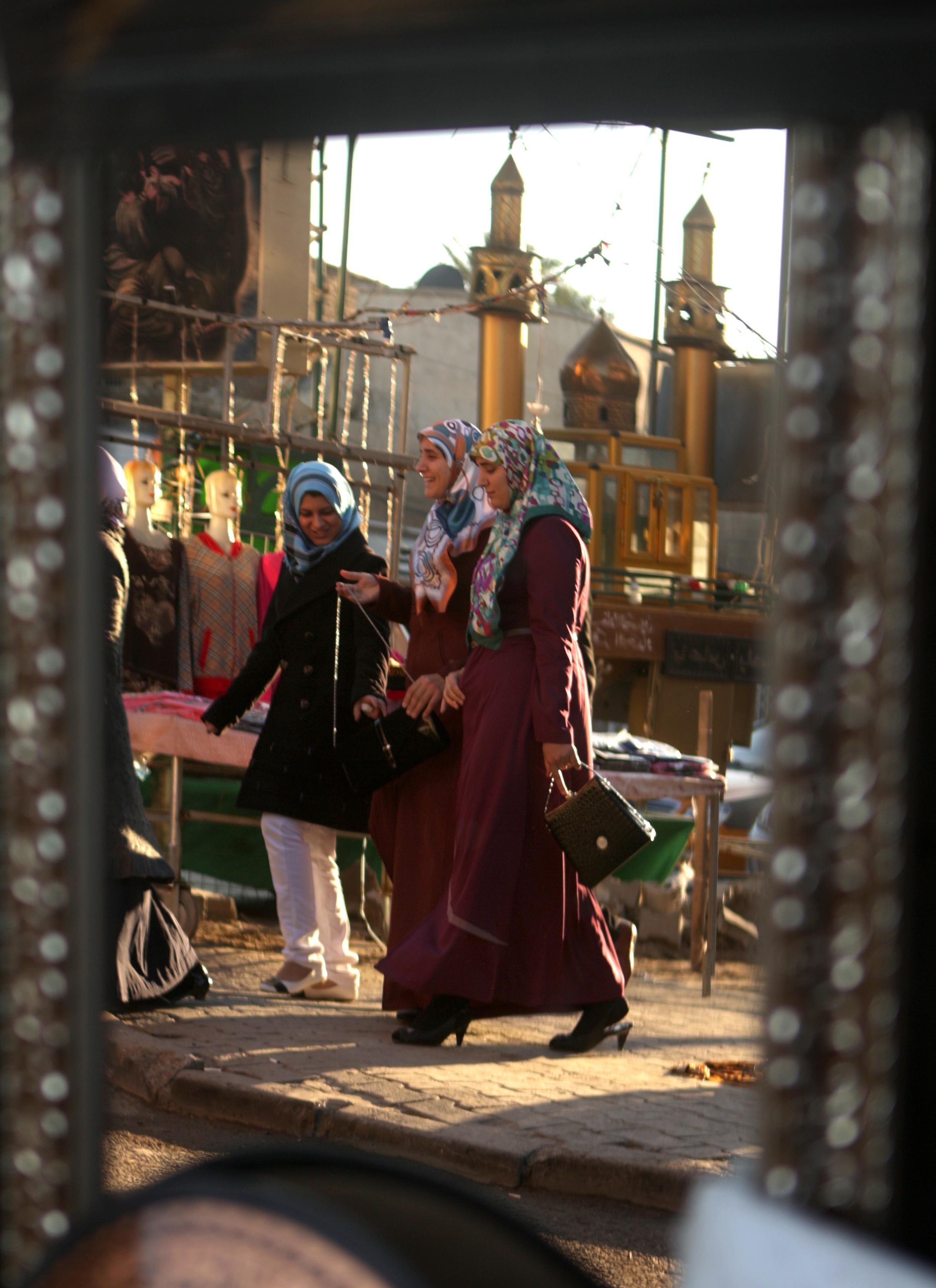 سيدات عراقيات في العاصمة بغداد