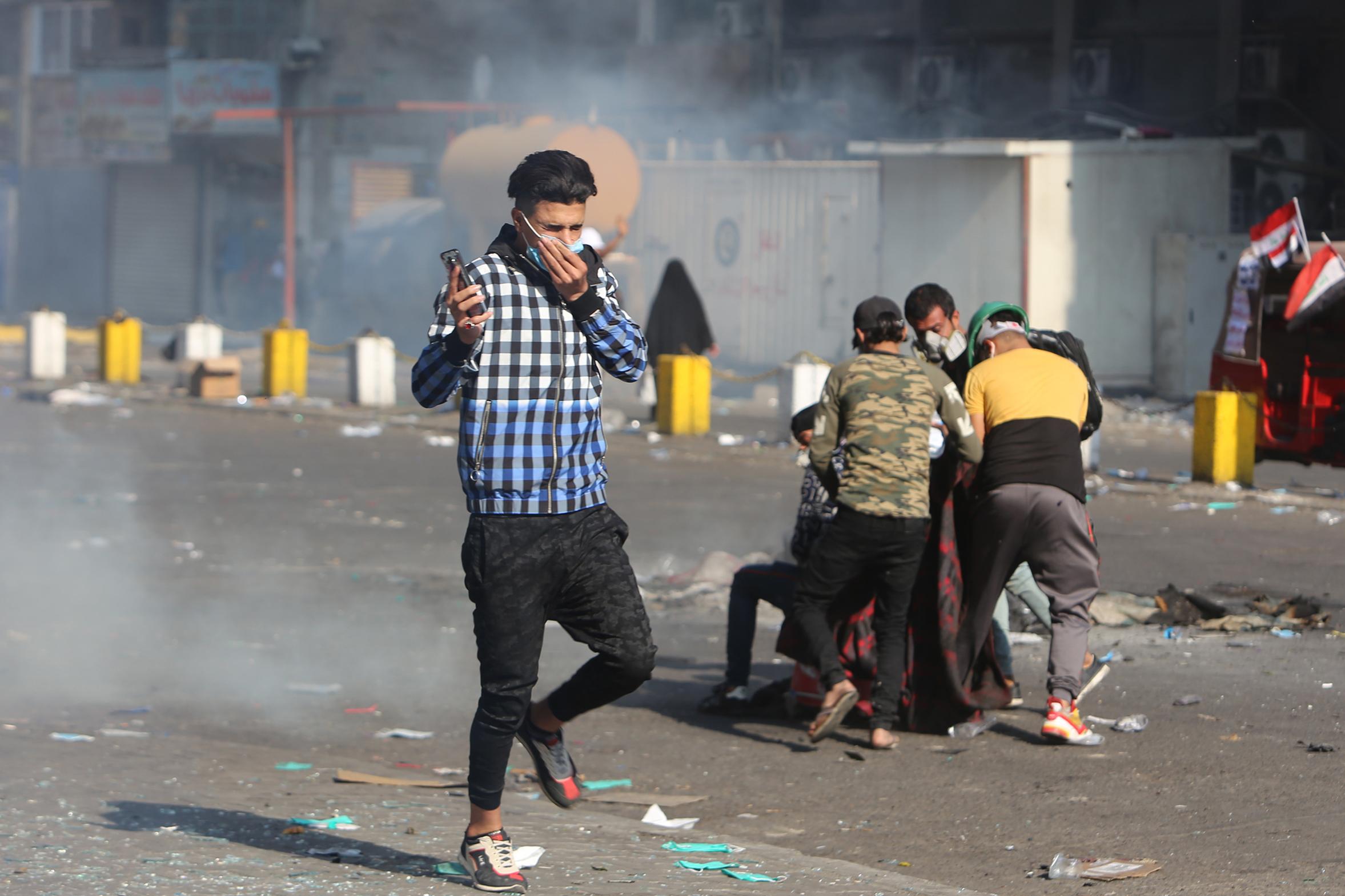 التظاهرات في بغداد متواصلة رغم قرار الحكومة منعها