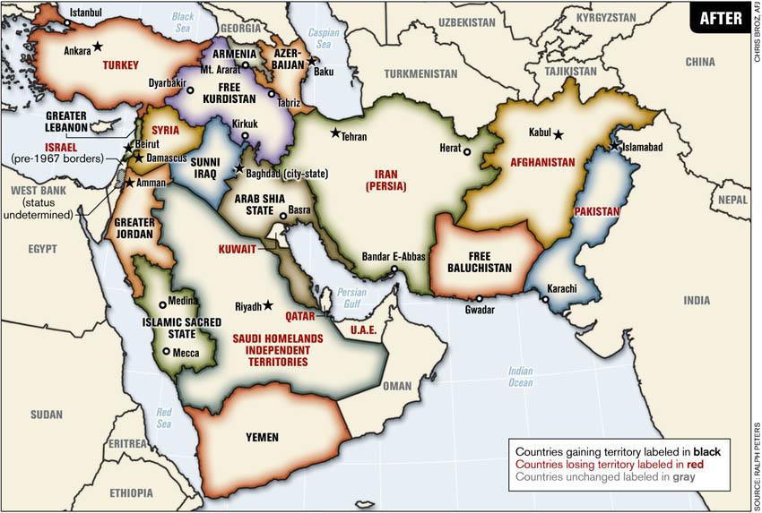 خريطة الشرق الأوسط ـ بعد