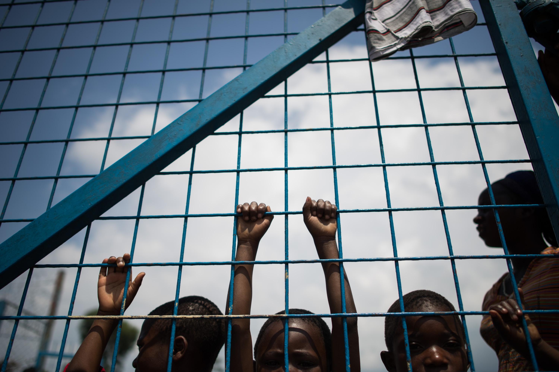 أطفال نازحين من النزاعات في الكونغو