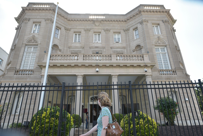 مقر البعثة الدبلوماسية الكوبية في واشنطن