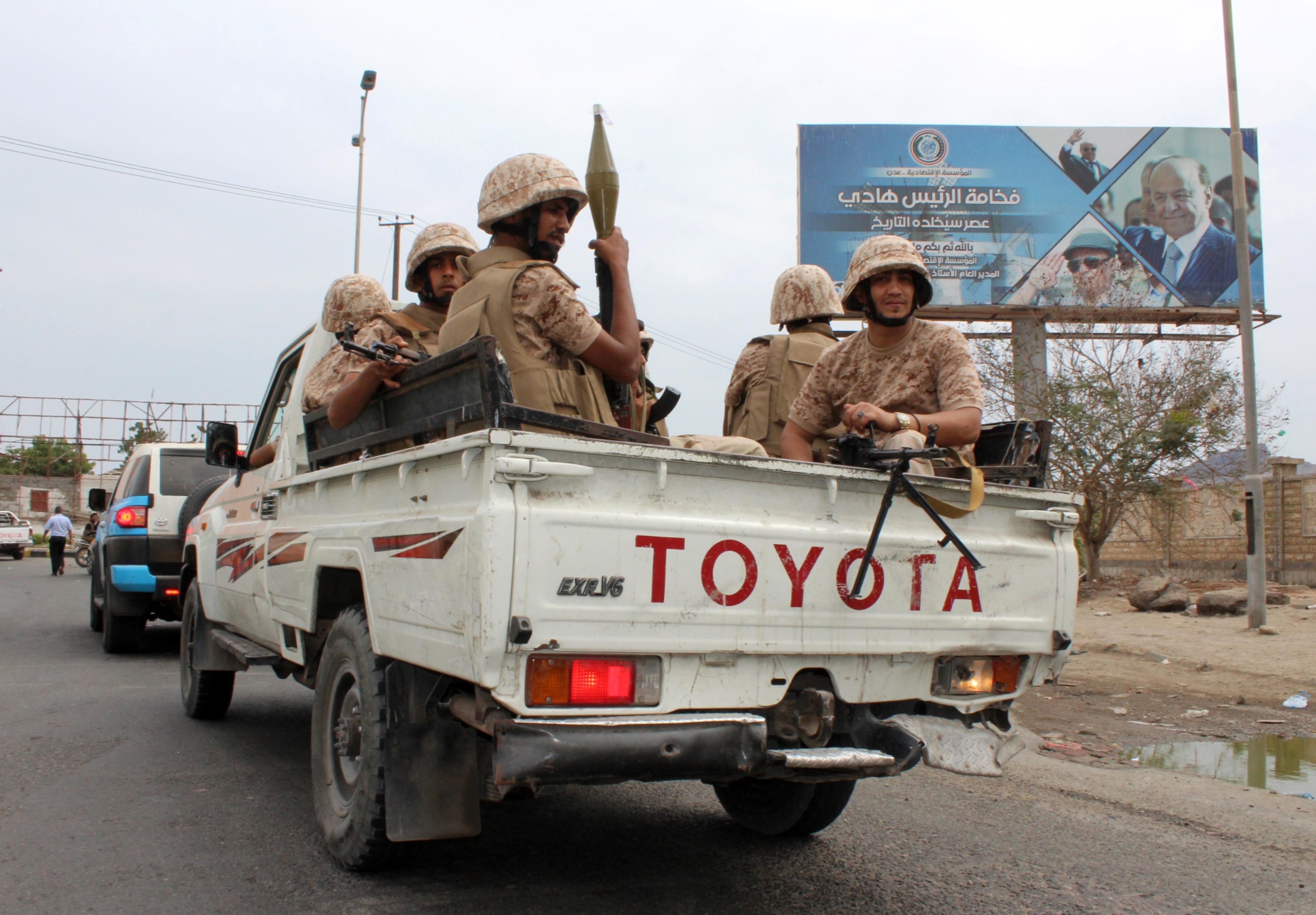 قوات تابعة للانفصاليين في عدن