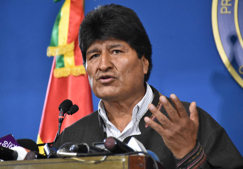 الرئيس البوليفي (المستقيل) أيفو موراليس، 9 نوفمبر 2019