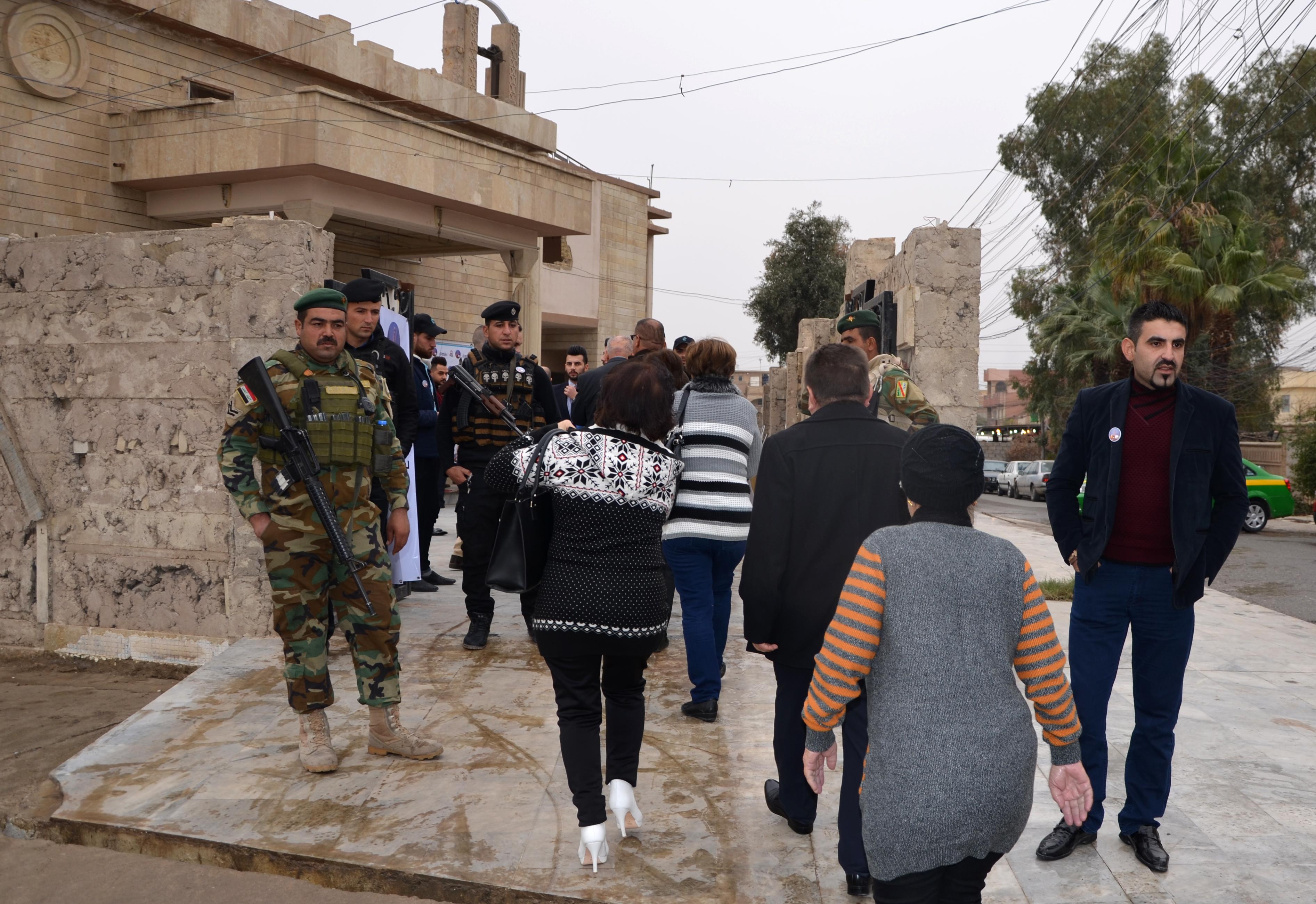 قوات أمن عراقية تواجدت لتأمين القداس