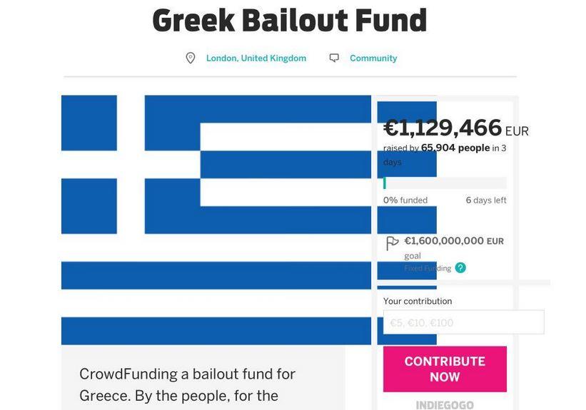 تمكنت حملة من جمع ما يفوق مليون يورو تضامنا مع اليونان