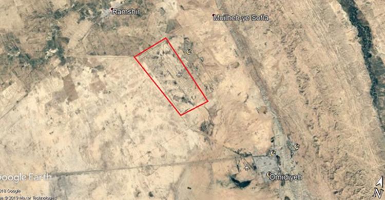 """صورة من الاقمار الصناعية لقاعدة """"اوميدية"""" على بعد 85 كم من الأهواز نشرها المجلس الوطني للمقاومة الإيرانية"""