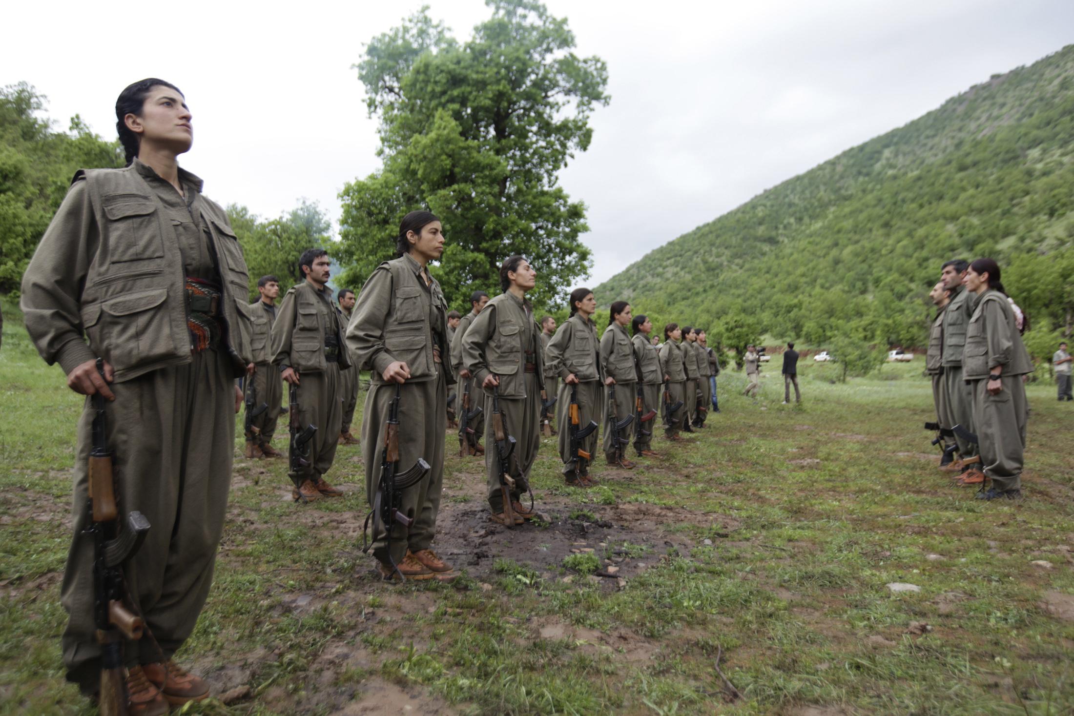مقاتلون من حزب العمال الكردستاني في شمال العراق- أرشيف