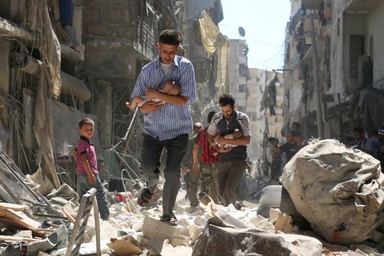 مدنيون في حلب الشرقية - أرشيف