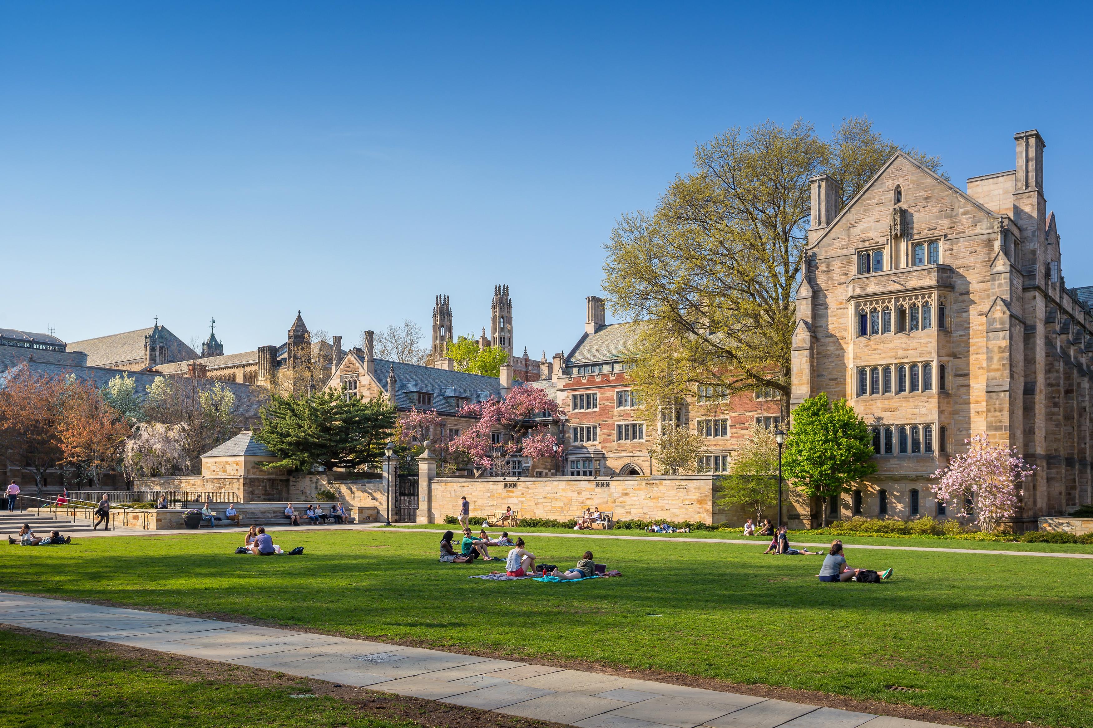 طلاب في حرم جامعة ييل الأميركية
