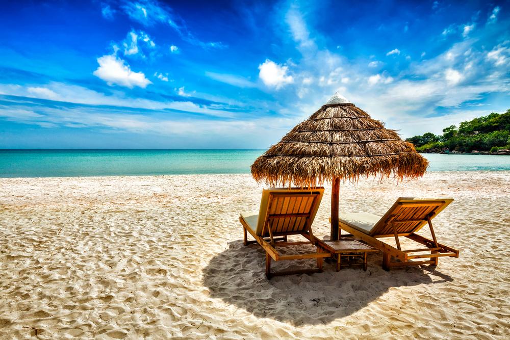 أحد الشواطئ الكاريبية