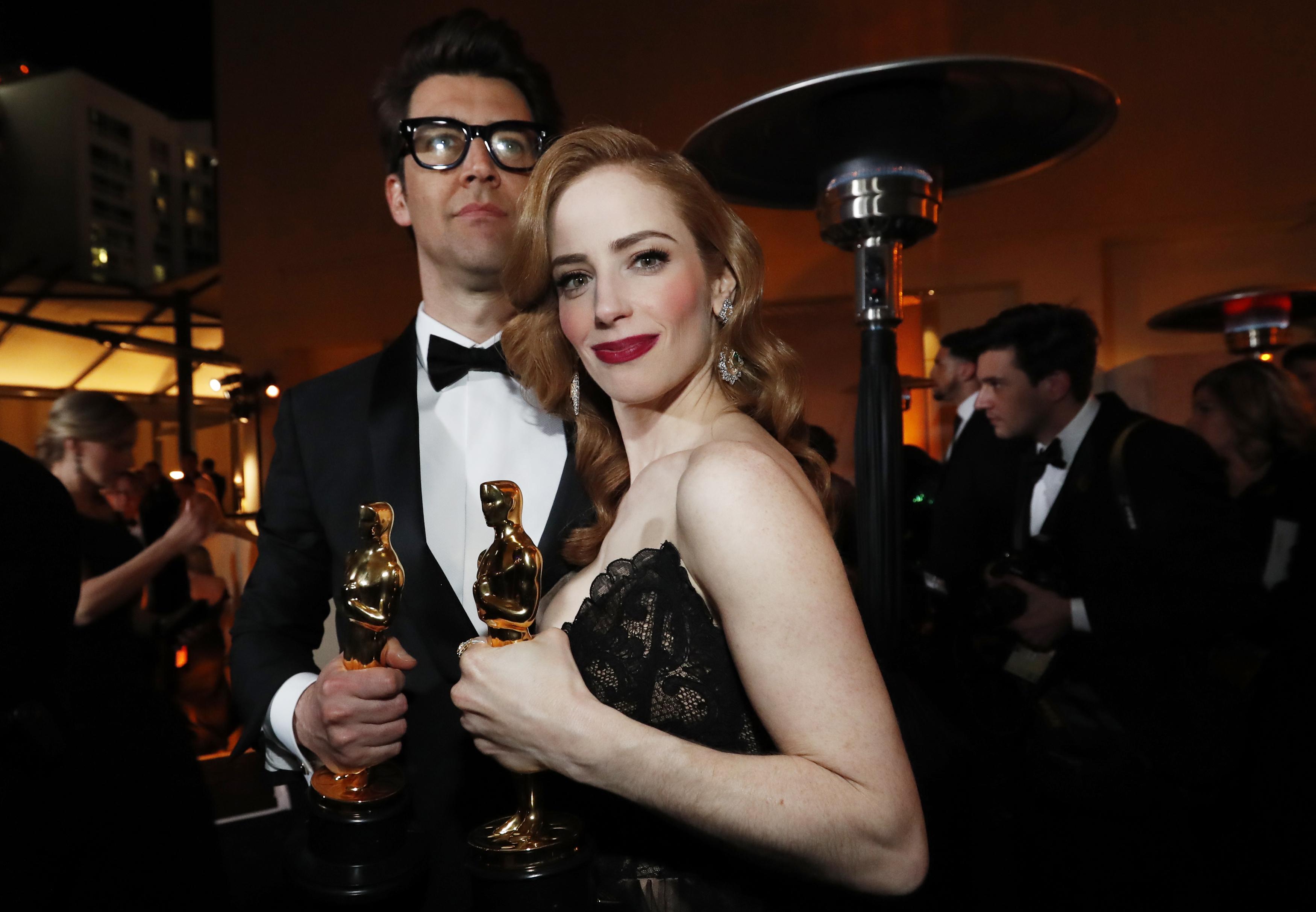 """غاي ناتيف وجايم راي نيومان، الفائزان بجائزة الأوسكار عن أفضل فيلم قصير """"Skin"""""""