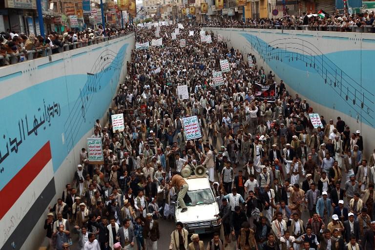 تظاهرات في صنعاء يوم الاثنين بدعوة من الحوثيين احتجاجا على رفع أسعار الوقود