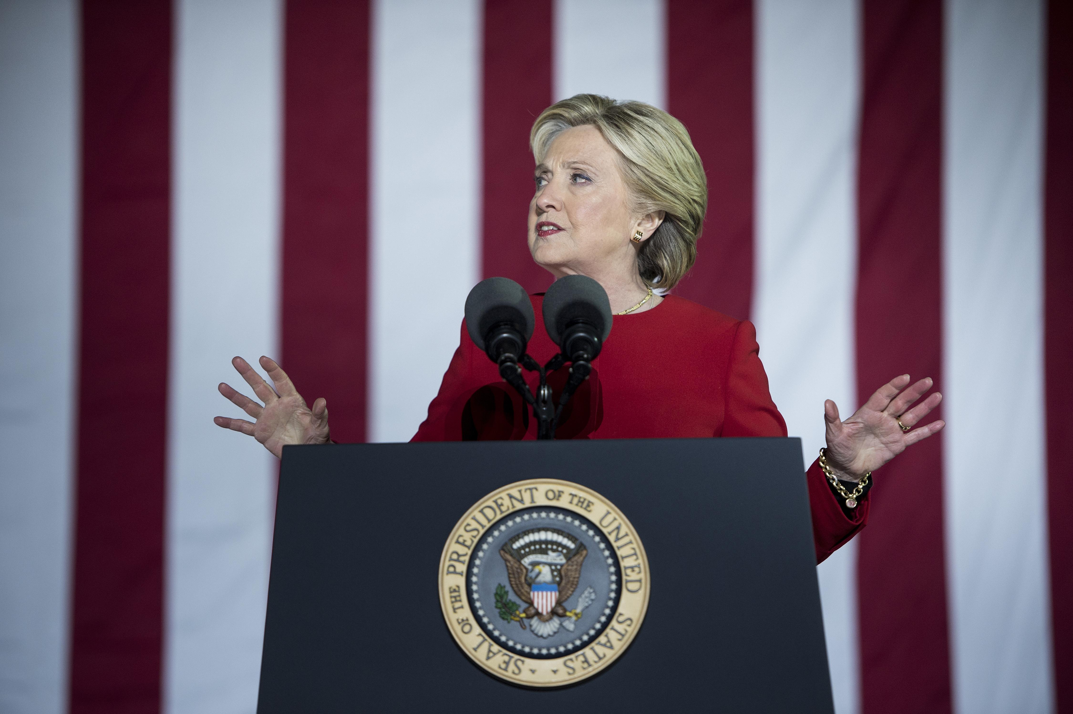 هيلاري كلينتون في تجمع بنسيلفانيا