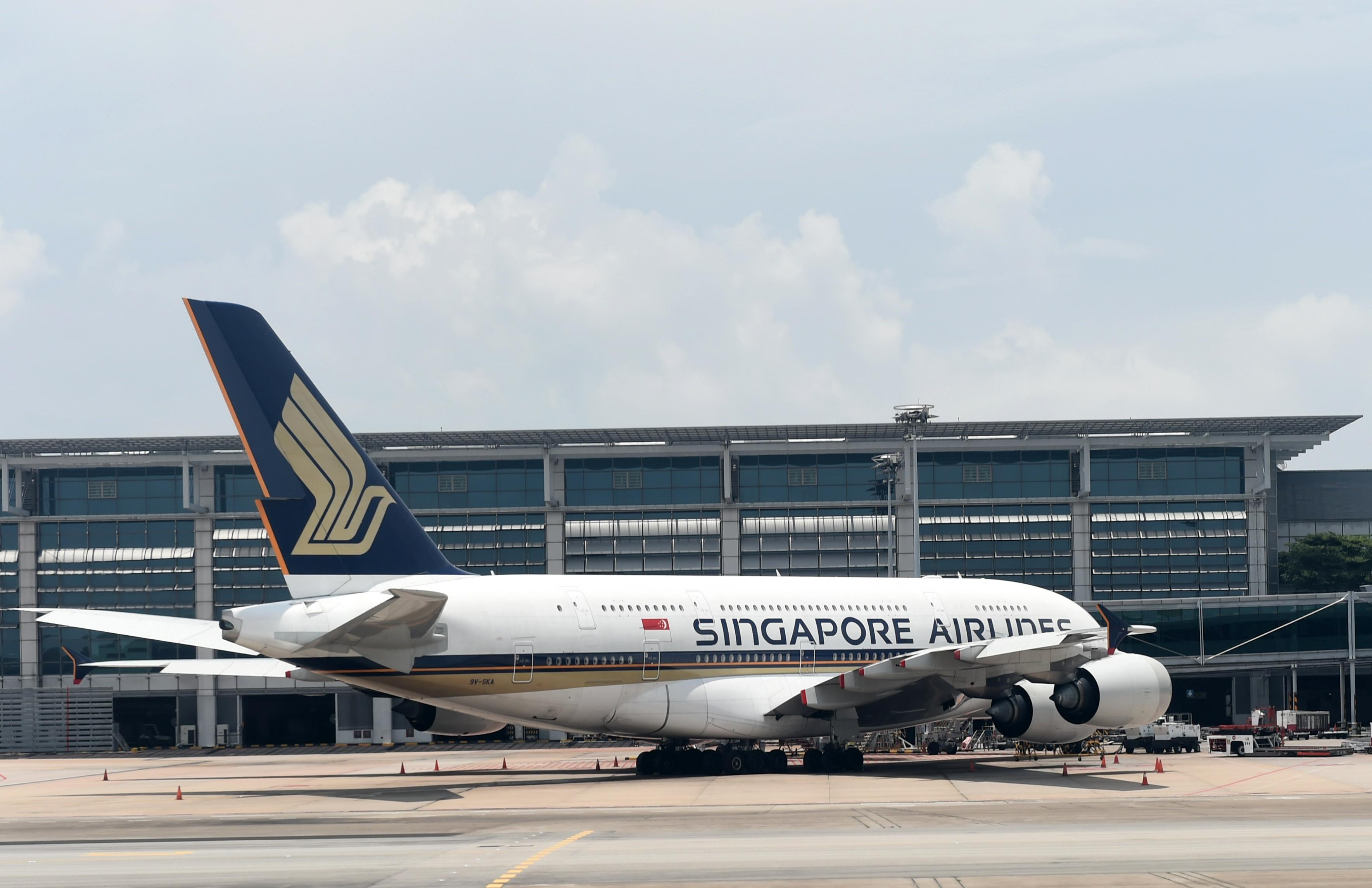 طائرة تابعة للخطوط الجوية السنغافورية